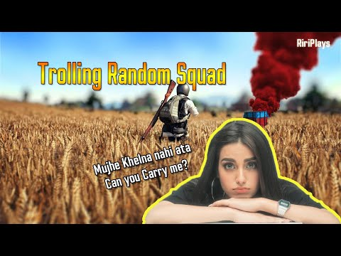 Pakistani Girl Pretending To Be A *NOOB* In PUBG Mobile   Funny Voice Chat   Trolling Squads
