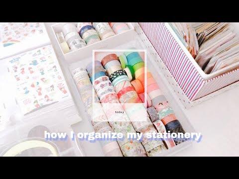 🌷 how I organize my stationery