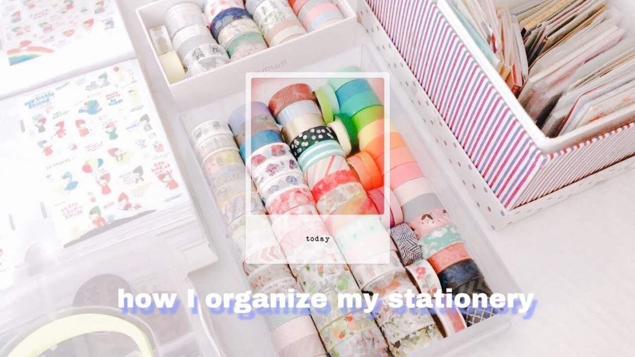 How I Organize My Stationery You
