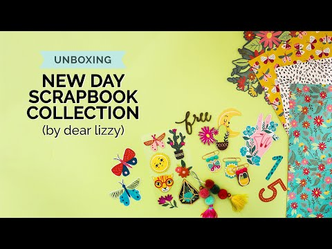 Unboxing the NEW New Day Collection by Dear Lizzy & American Crafts (Craft Supplies, Haul)