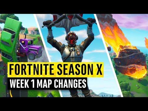 Fortnite | All Season X Map Updates And Hidden Secrets! WEEK 1