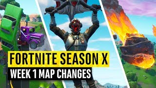 Fortnite | All Season X Map Updates and Hidden Secrets! WEEK 1