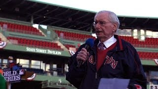 Red Sox Poet Laureate Dick Flavin unveils poem