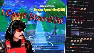 Dr. Disrespect Flips Out After Losing In Fortnite