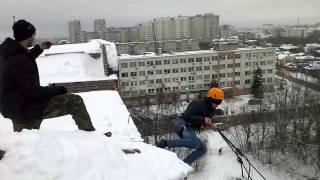 Прыжки с горки rope jumping ivanovo Иваново 22.12.2013