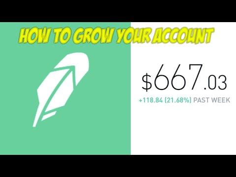 How To Grow Your Robinhood App Brokerage Account   +20% A Week