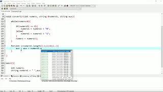 CONVERTIR UN NUMERO DECIMAL A BINARIO EN C++