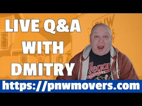 Live Q&A With Dmitry Satir PNW Movers In Seattle. Learn how Market Like A Boss