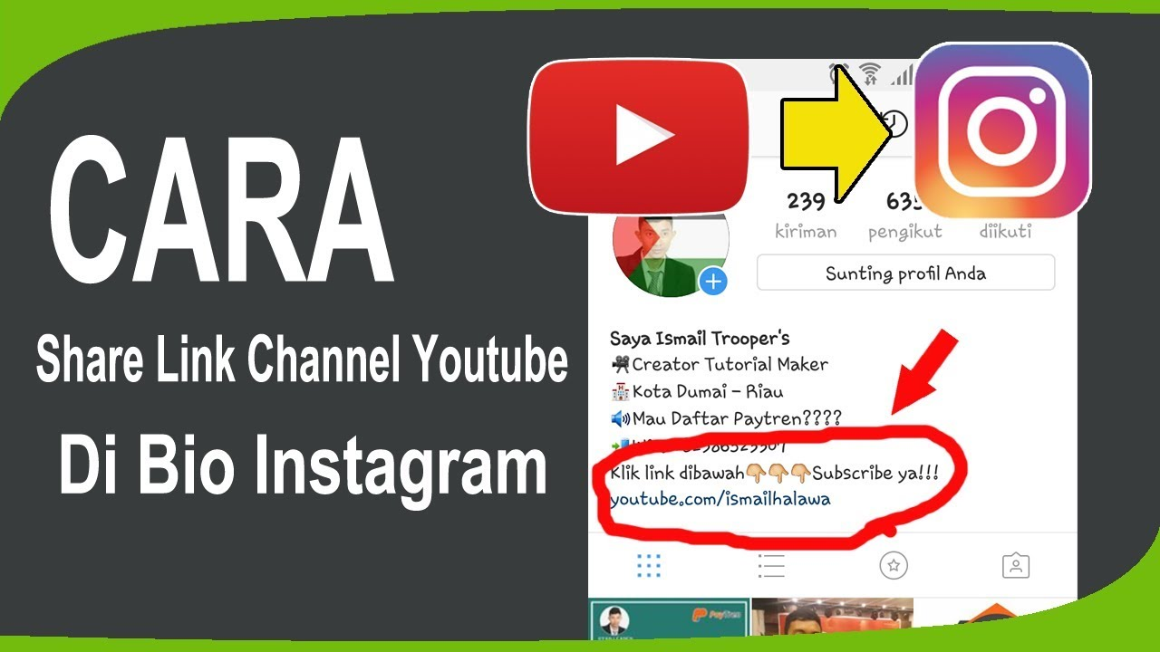 Cara Share Link Channel Youtube Ke Bio Instagram
