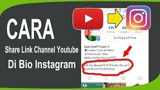 Cara SHARE Link Channel Youtube Ke Bio Instagram