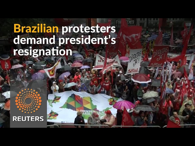 Protesters call for resignation of Brazil's Temer