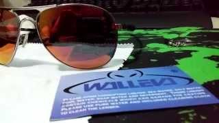 UNBOXING FIRE RED Polarized Walleva Oakley Plaintiff 【HD】