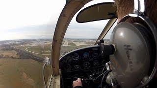 GoPro HD: Piper Cherokee 140 Flight to KSGF (Springfield Branson Regional Airport)