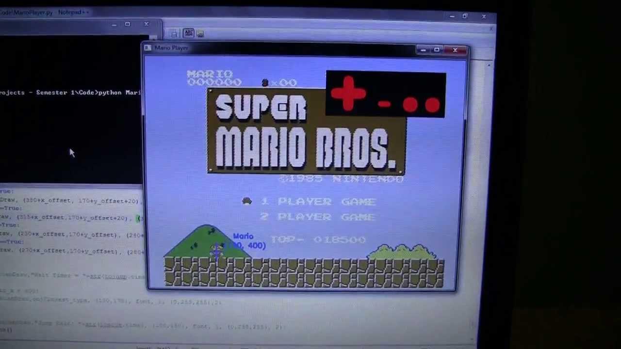 Super Mario Bros AI: Arduino and Python