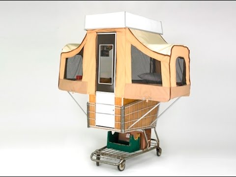 Camper Kart - a Tiny Home That Pops Out of a Shopping Cart
