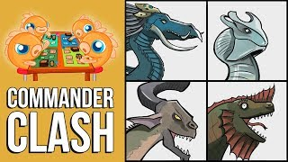 Commander Clash S5 Episode 2: M19 Elder Dragons! (Nicol Bolas vs Aracdes vs Chromium vs Vaevictis)