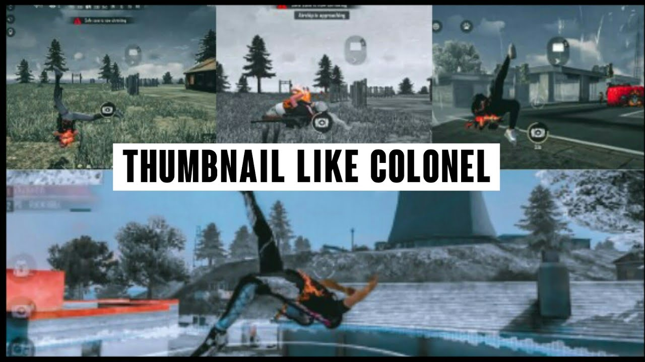 How To Make Thumbnail Like Colonel How To Edit Freefire Thumbnail On Android🔥🔥