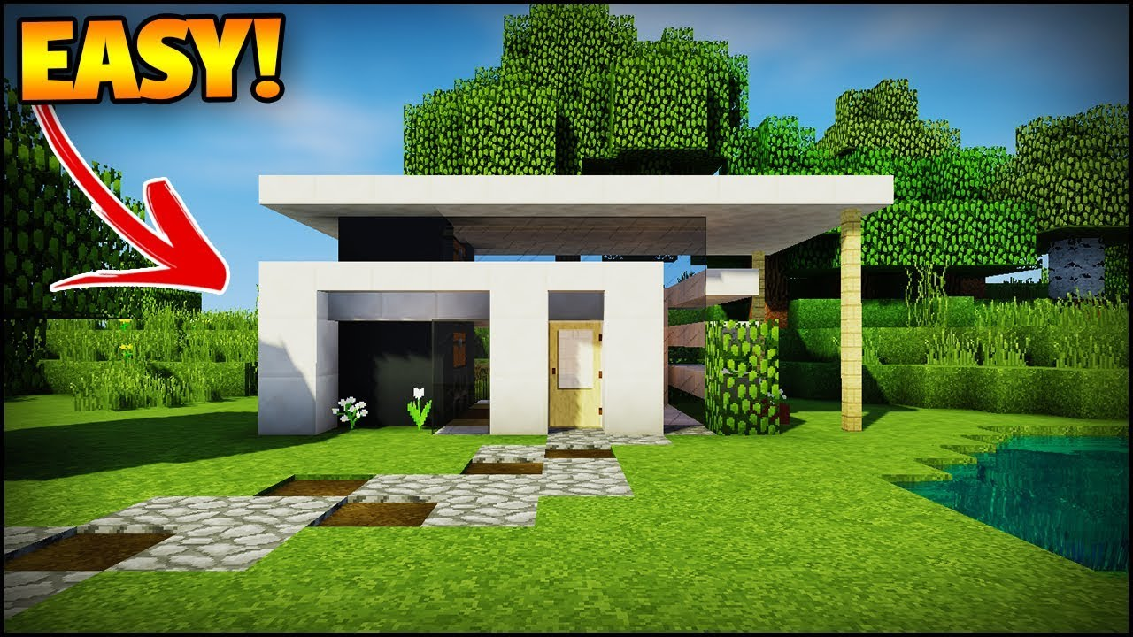 The Best Minecraft Modern House For Beginners  - Minecraft House Tutorial  Easy