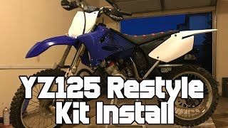 2003 YZ125 UFO Restyle Plastic Kit Install