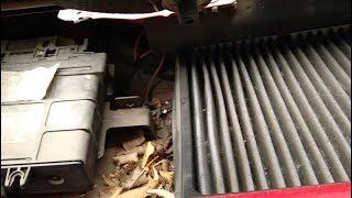 3# Замена фильтра салона vw new beetle - Дневник красного жука