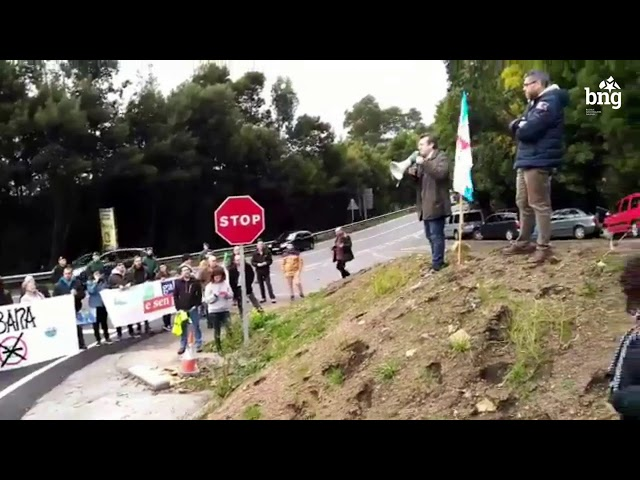 O BNG esixe AP-9 galega e sen peaxes ante o acto de inauguración das obras de Rande