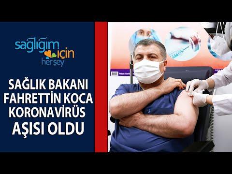 Sağlık Bakanı Dr. Fahrettin Koca Koronavirüs Aşısı Oldu
