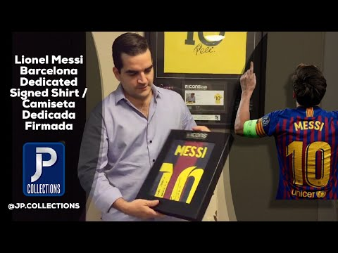 Unboxing Messi's Autographed shirt signed - Español - Subtitled