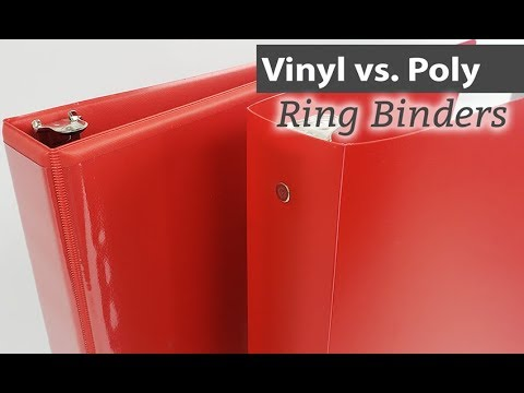 Vinyl & Poly Binder Overview And Key Differences