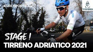 Tirreno–Adriatico 2021 - Stage 1 Highlights | Cycling | Eurosport