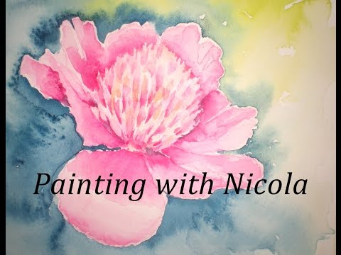 Paint this pretty, pink peony in 30 minutes of painting pleasure