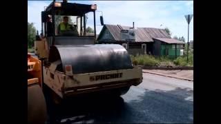 Ремонт дорожного полотна на улице Архангельской