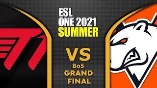 T1 vs VP - GRAND FINAL - ESL One Summer 2021 Dota 2 Highlights