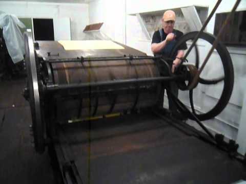 RUNNING CAMPBELL COUNTRY CYLINDER NEWSPAPER PRESS IN HOMER, GEORGIA