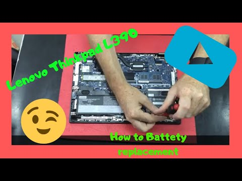 Lenovo Thinkpad L390 How To Battery Replacement Disassembly