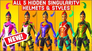 Fortnite Singularity Helmet Locations * Unlocks Style Outfits * Singularity Secret Hidden Skins!