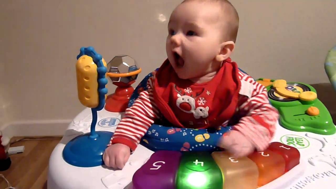 Tedi Knockton Christmas 2010 Cute Baby Boy In His Leap Frog Learn