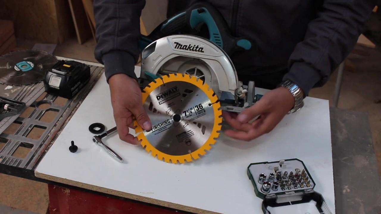 como cambiar el disco de la sierra circular - YouTube