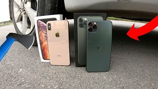 EXPERIMENT CAR VS IPHONE 11 PRO MAX ! Crushing Crunchy & Soft Things by Car #773