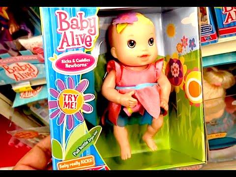 Baby Alive Kicks Amp Cuddles Newborn Baby Really Kicks Toy