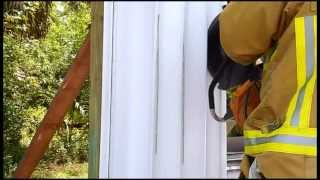 The EXTRACTOR Rescue Blade™ - Cutting Aluminum Hurricane Shutters