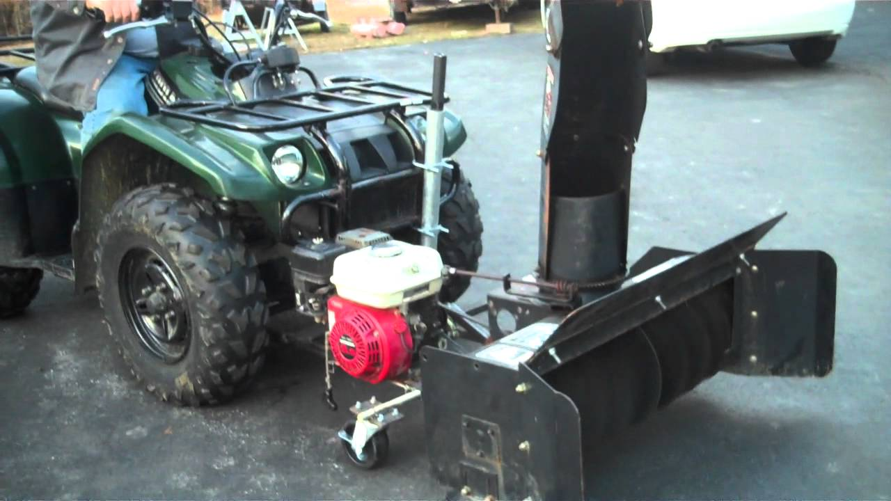 snow blower 66 atv - YouTube