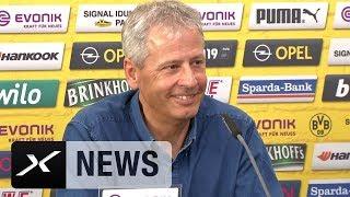 Lucien Favre schwärmt von Paco Alcacer und Gladbachs Alassane Plea | Pressekonferenz | Bundesliga