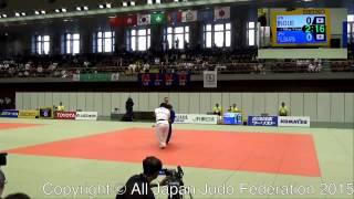 第8回東アジア柔道選手権 78kg超級 井上愛美 藤原恵美.