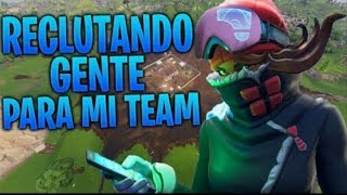 CONTING PEOPLE POUR MON FORTNITE COMPETITIVE TEAM! Code: OskitarPro