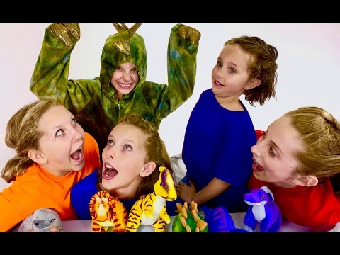 Thumbnail: Learn English Colors! Rainbow Dinosaurs with Sign Post Kids!