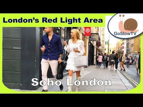 Soho London Red Light Area | Early Evening | Walking London | UK | Slow TV | (2018) | Episode 7