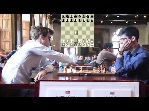 Exciting Same Opening Moves Magnus Carlsen VS Anish Giri at Blitz Chess 2017