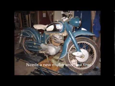 Barn find NSU MAX motorcycle in Denmark 2012.