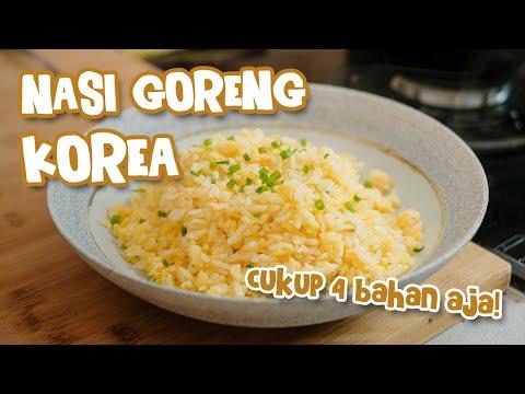 Resep Korean Egg Fried Rice / Nasi Goreng Telur Ala Korea [ 2 Bahan Dan Enak ! ]