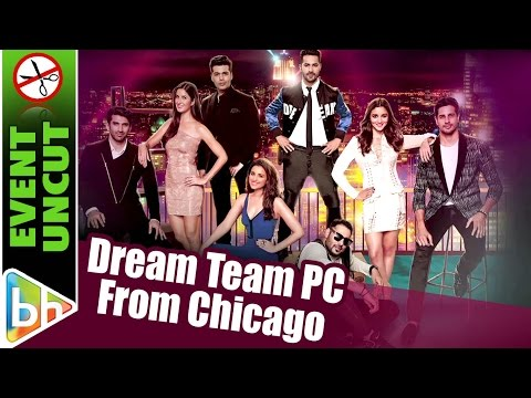 Dream Team 2016 | Press Conference | Chicago | Katrina Kaif | Varun | Alia | Sidharth | Event Uncut